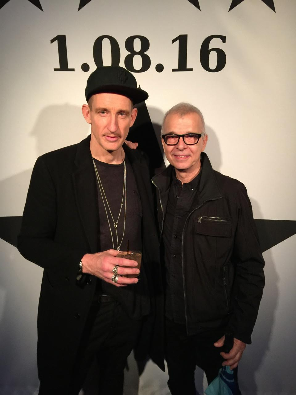 Tony Visconti and Johan Renck, the director of the Blackstar short film, at the world premiere of the video at Night Hawk Cinema in Williamsburg, NY